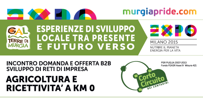 """CONVEGNO """"ESPERIENZE DI SVILUPPO LOCALE TRA PRESENTE E FUTURO, VERSO EXPO 2015"""""""