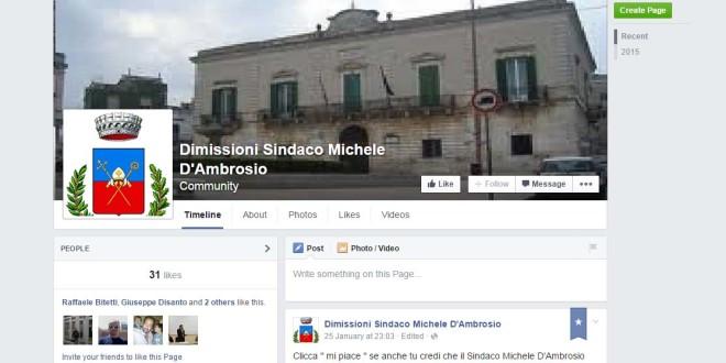 DIMISSIONI D'AMBROSIO: LA RICHIESTA APPRODA SU FACEBOOK