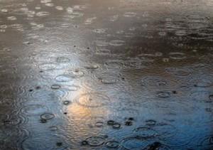 asfalto con la pioggia