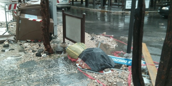 VIOLENTISSIMO TEMPORALE A SANTERAMO E DINTORNI