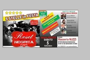 SABATO, 5 STELLE IN FESTA A SANTERAMO