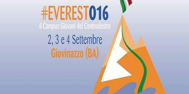 EVEREST 2016: CAMPUS GIOVANI CENTRODESTRA
