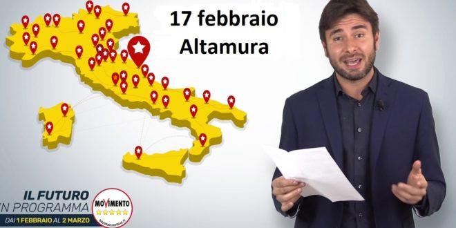"""ELEZIONI: DI BATTISTA IN """"PUGLIA"""" CON """"IL  FUTURO IN PROGRAMMA"""""""