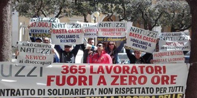 RICHIESTA SOSPENSIONE CONTRATTO SOLIDARIETA' ALLA NATUZZI