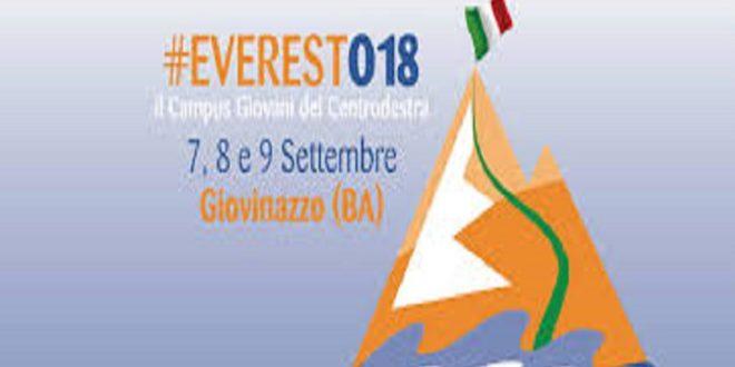 FORZA ITALIA: DAL 7 AL 9 SETTEMBRE TORNA EVEREST