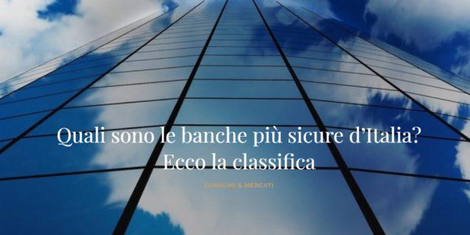 LA BCC DI SANTERAMO IN COLLE TRA LE BANCHE PIU' SICURE D'ITALIA
