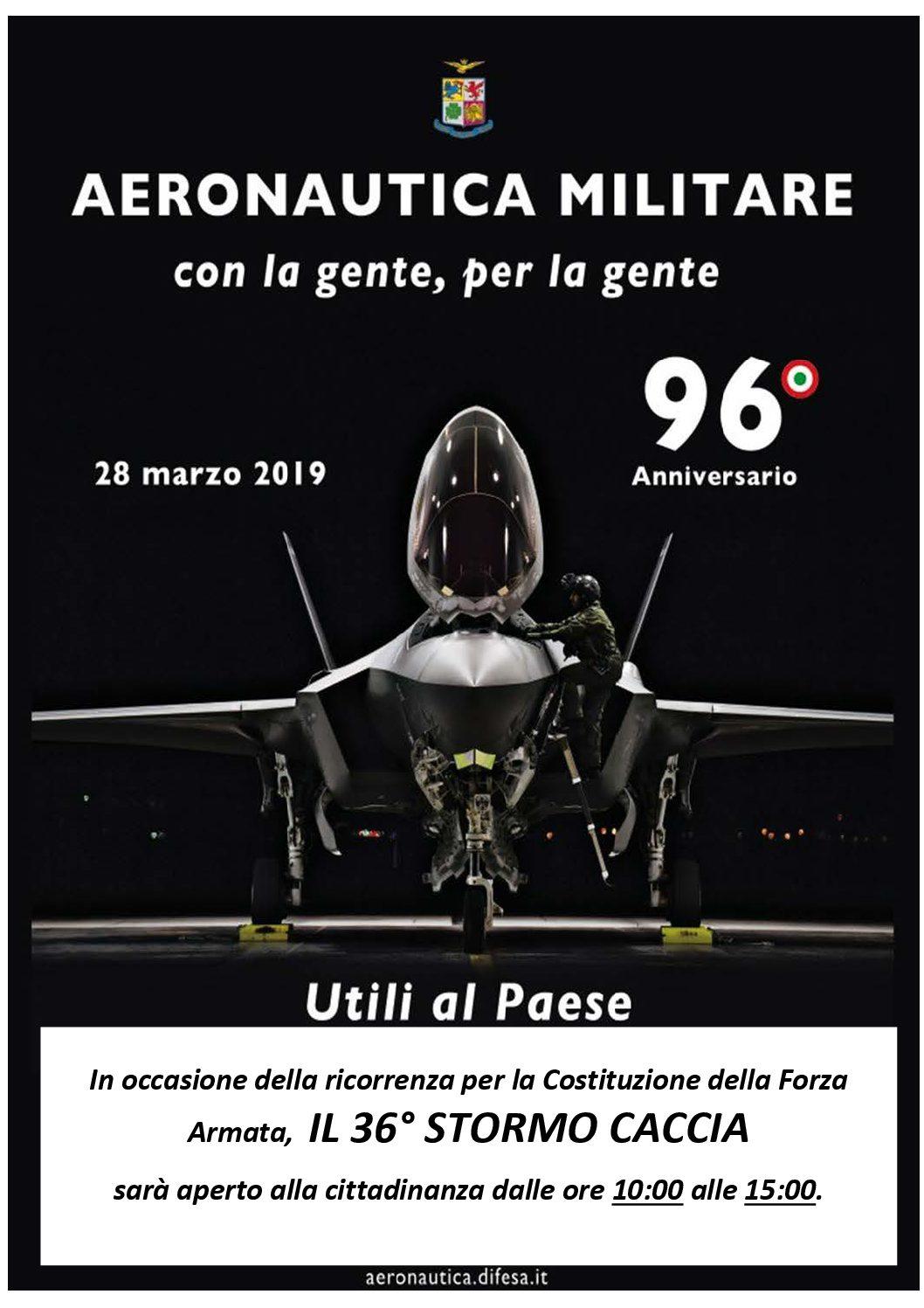 Porte aperte al 36° Stormo Caccia di Gioia del Colle per il compleanno dell'Aeronautica