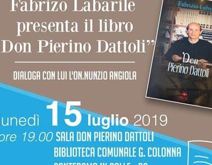 """BIBLIOTECA COMUNALE: QUESTA SERA LA PRESENTAZIONE DEL LIBRO """"DON PIERINO DATTOLI """" DI FABRIZIO LABARILE"""